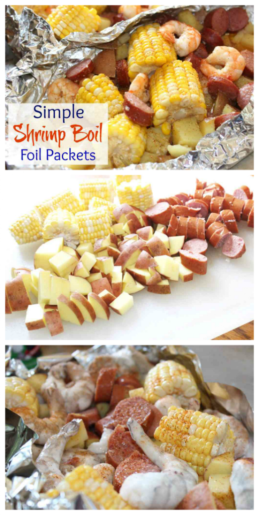 Simple Shrimp Boil Foil Packets on The Grill Or In The Oven