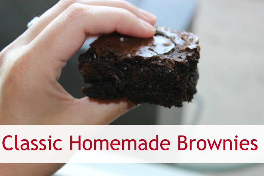 classic homemade brownies