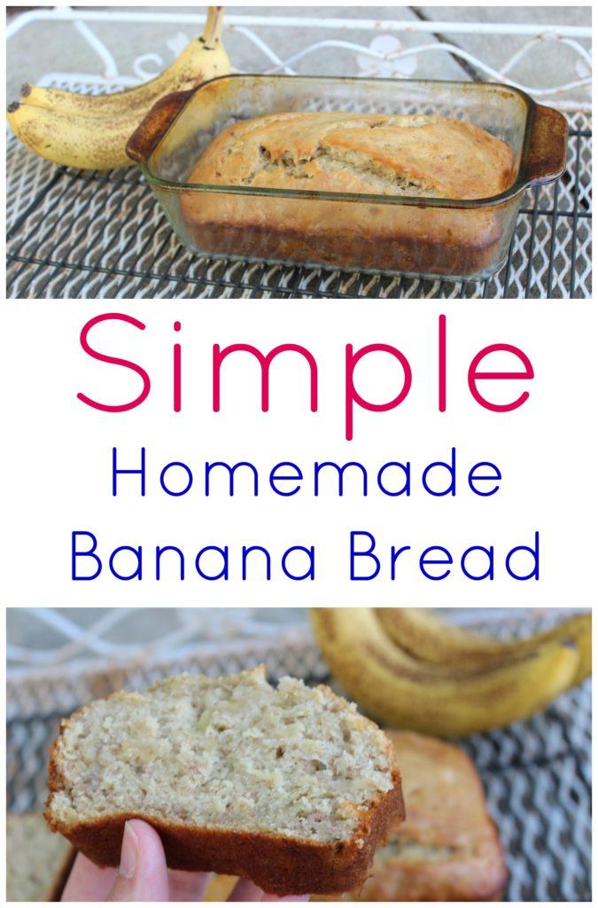simple homemade banana bread