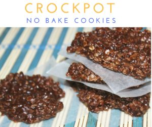 Crockpot No Bake Cookies
