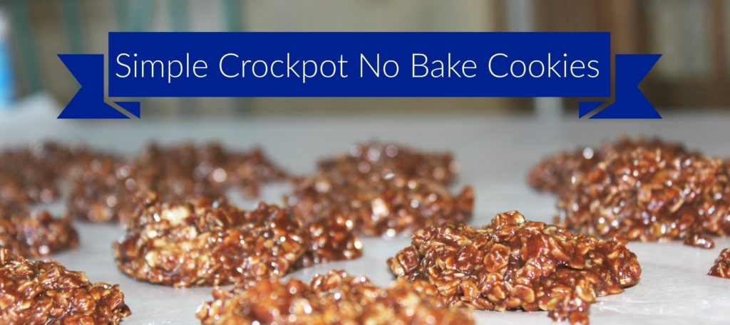 simple crockpot no bake cookies
