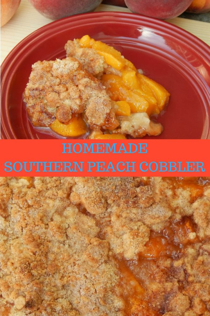 easy homemade peach cobbler