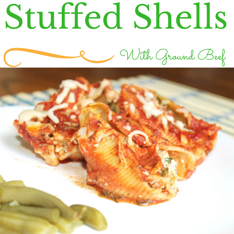Stuffed Shells with Ground Beef